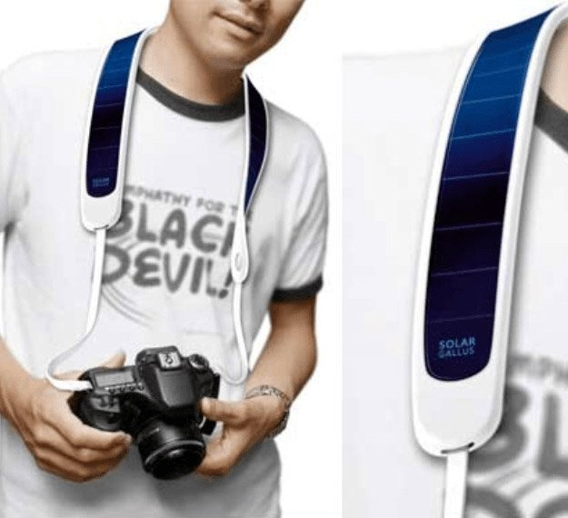Solar Powered Camera Strap | Cool Solar Powered Inventions