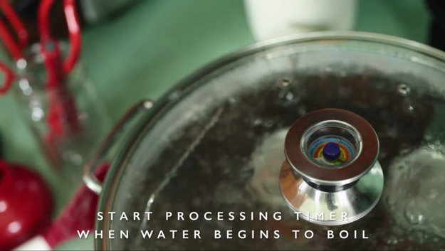 Place the lid and start the process | How to Can Food in 13 Easy Steps