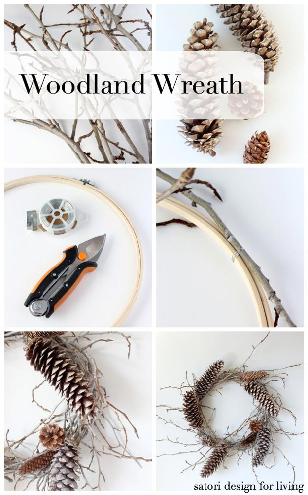 Woodland Wreath | 18 Fall Wreath Ideas For Your Front Door