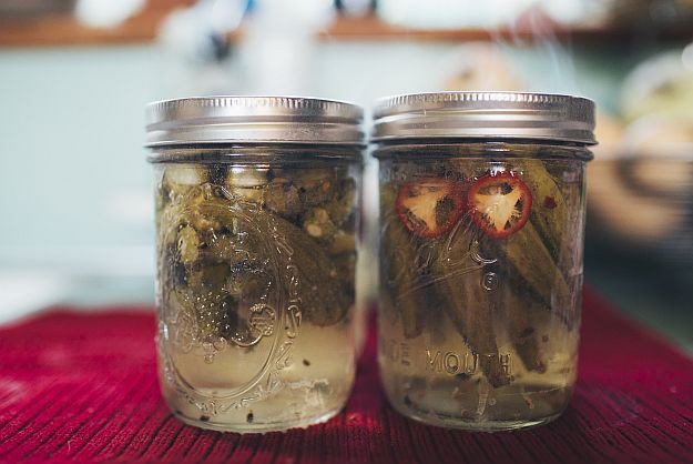 Canning : Step 5   The Best Pickled Okra   Homesteading Recipe